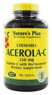 Nature's Plus - Acerola C Complex Chewable Vit. C 250 mg. - 180 Chewable Tablets by Nature's Plus
