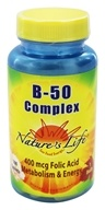 Nature's Life - B-50 Complex 400 mcg. - 100 Tablets, from category: Vitamins & Minerals