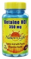 Nature's Life - Betaine HCL 350 mg. - 100 Tablets by Nature's Life