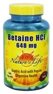 Nature's Life - Betaine Hydrochloride 648 mg. - 100 Capsules by Nature's Life