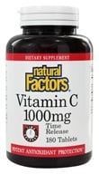 Natural Factors - Vitamin C Time Release 1000 mg. - 180 Tablets by Natural Factors