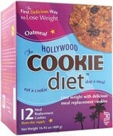 Hollywood Diet - Hollywood Cookie Diet - 12 Cookies Oatmeal Flavor (690615601220)