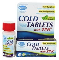Hylands - Cold Tablets With Zinc - 50 Tablets - $6.60