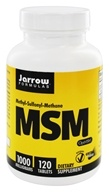 Jarrow Formulas - MSM Sulfur 1000 mg. - 120 Tablets, from category: Nutritional Supplements