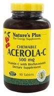 Nature's Plus - Acerola C Complex Chewable Vitamin C 500 mg. - 90 Chewable Tablets - $12.09