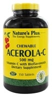 Nature's Plus - Chewable Acerola C Complex 500 mg. - 150 Chewable Tablets