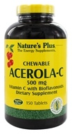 Nature's Plus - Chewable Acerola C Complex 500 mg. - 150 Chewable Tablets (097467024625)