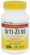 Nature's Plus - Acti-Zyme with Live Food Enzymes FOS & Bioperine - 90 Capsules by Nature's Plus