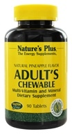 Nature's Plus - Adult's Chewable Multi-Vitamin & Mineral Natural Pineapple - 90 Chewable Tablets (097467030879)