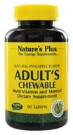 Image of Nature's Plus - Adult's Chewable Multi-Vitamin & Mineral Natural Pineapple - 90 Chewable Tablets