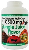 Natural Factors - 100% Natural Fruit Chew C Jungle Juice 500 mg. - 180 Chewable Wafers by Natural Factors
