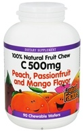 Natural Factors - 100% Natural Fruit Chew C Peach/Passionfruit/Mango 500 mg. - 90 Chewable Wafers - $11.08
