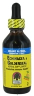 Nature's Answer - Echinacea & Golden Seal Organic Alcohol - 2 oz.