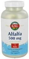 Kal - Alfalfa 500 mg. - 500 Tablets by Kal