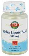 Image of Kal - Alpha Lipoic Acid Time Release 300 mg. - 30 Tablets