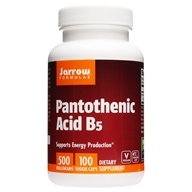 Jarrow Formulas - Pantothenic Acid 500 mg. - 100 Capsules - $5.37
