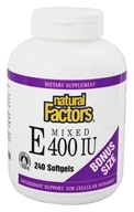 Natural Factors - Vitamin E Mixed 100% Natural Source 400 IU - 240 Softgels by Natural Factors