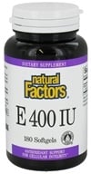 Natural Factors - Vitamin E 100% Natural Source 400 IU - 180 Softgels - $17.57