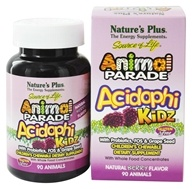 Nature's Plus - Animal Parade AcidophiKidz Berry Flavor - 90 Chewable Tablets by Nature's Plus