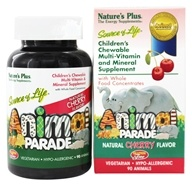 Image of Nature's Plus - Animal Parade Children's Chewable Multi Cherry - 90 Chewable Tablets