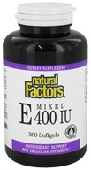 Natural Factors - Vitamin E Mixed 100% Natural Source 400 IU - 360 Softgels - $35.97