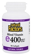 Natural Factors - Vitamin E Mixed 100% Natural Source 400 IU - 90 Softgels, from category: Vitamins & Minerals