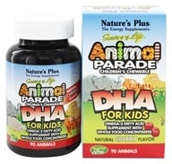 Nature's Plus - Animal Parade Children's DHA Cherry - 90 Chewable Tablets - $11.68