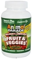 Nature's Plus - Animal Parade Fruits & Veggies Pineapple Flavor - 180 Chewable Tablets