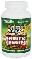 Nature's Plus - Animal Parade Fruits & Veggies Pineapple Flavor - 180 Chewable Tablets - $17.48