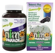 Image of Nature's Plus - Animal Parade Children's Chewable Multi Grape - 180 Chewable Tablets