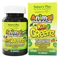 Nature's Plus - Animal Parade KidGreenz Chewable Tropical Fruit Flavor - 90 Chewable Tablets by Nature's Plus