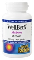 Natural Factors - WellBetX Mulberry Extract 100 mg. - 90 Capsules by Natural Factors