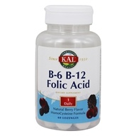 Kal - B6, B12, Folic Acid Lozenge - 60 Lozenges, from category: Vitamins & Minerals