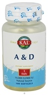 Kal - A & D 10,000 IU/400 IU - 100 Softgels (021245060109)