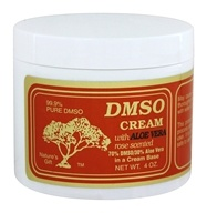 Nature's Gift DMSO - Cream With Aloe Vera Rose Scented - 4 oz. by Nature's Gift DMSO