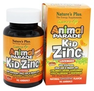 Nature's Plus - Animal Parade KidZinc Lozenges Tangerine - 90 Lozenges