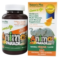 Nature's Plus - Animal Parade Children's Chewable Multi Orange - 180 Chewable Tablets (097467299757)
