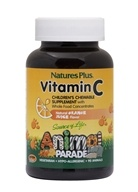 Nature's Plus - Animal Parade Vitamin C Orange Juice - 90 Chewable Tablets - $6.49