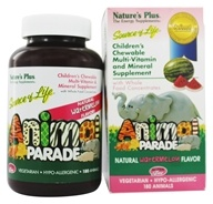 Nature's Plus - Animal Parade Children's Chewable Multi Watermelon - 180 Chewable Tablets - $19.91