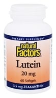 Natural Factors - Lutein 20 mg. - 60 Softgels