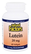 Natural Factors - Lutein 20 mg. - 60 Softgels - $11.97