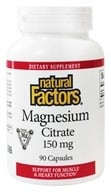 Natural Factors - Magnesium Citrate 150 mg. - 90 Capsules - $7.77