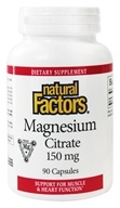 Natural Factors - Magnesium Citrate 150 mg. - 90 Capsules