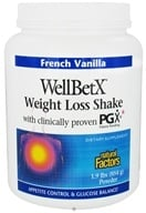 Natural Factors - WellBetX Weight Loss Shake with PGX French Vanilla - 1.9 lbs.