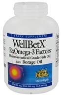 Natural Factors - WellBetX RxOmega-3 Factors with Borage Oil - 120 Softgels (068958035819)