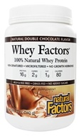 Natural Factors - Whey Factors 100% Natural Whey Protein Double Chocolate - 12 oz. (068958029276)