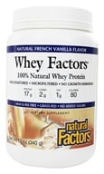 Natural Factors - Whey Factors 100% Natural Whey Protein French Vanilla - 12 oz. (068958029269)