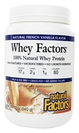 Natural Factors - Whey Factors 100% Natural Whey Protein French Vanilla - 12 oz., from category: Sports Nutrition