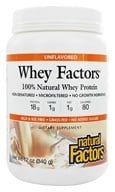 Natural Factors - Whey Factors 100% Natural Whey Protein Unflavored - 12 oz. by Natural Factors