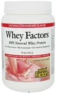 Image of Natural Factors - Whey Factors 100% Natural Whey Protein Very Strawberry - 12 oz.